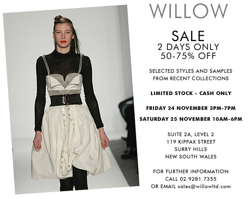 Look for a party dress at the Willow sale